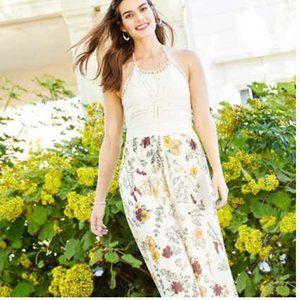 Altar'd State Melrose Crochet Maxi Dress Medium